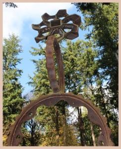 Gear wheel sculpture
